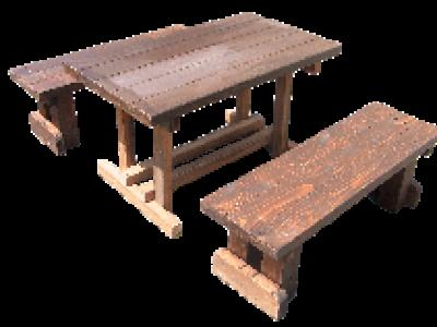ログテーブル・ベンチ