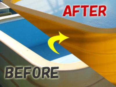 FRP素材のプールの補修