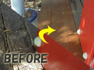 傷んだ板部分は抜き替えて塗装!
