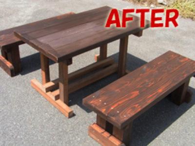 デッキテーブルの製作