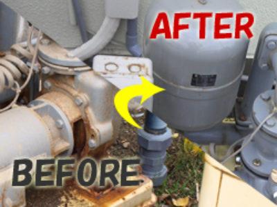 井戸ポンプの取り替え