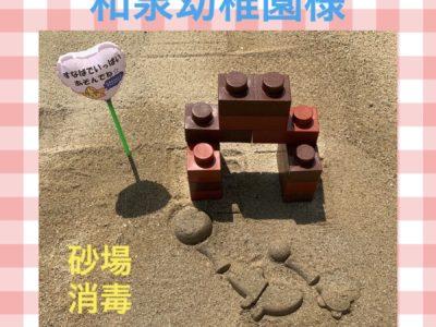和泉幼稚園様♥砂場消毒♥