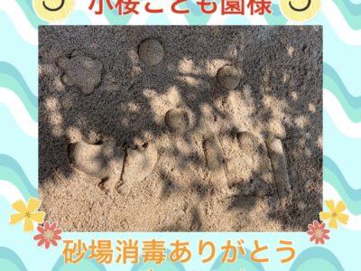 砂場消毒★小桜こども園様★
