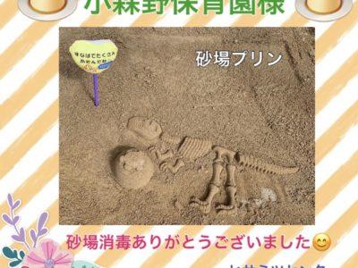 砂場消毒♥小森野保育園様♥